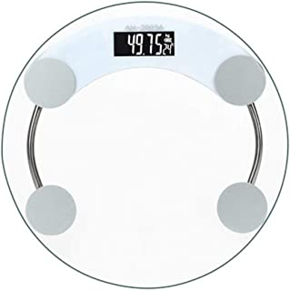 Básculas Digitales Escalas de grasa corporal 180kg baño de grasa corporal IMC Digital escala humana Peso Mi básculas de suelo Lcd Índice elegante electrónico Equipos de excavación ( Color : White )