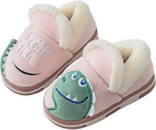 KVbabby Zapatillas de Estar por casa para niño Dibujos Animados Antideslizante CáLido Interior Dormitorio Zapatos De Piso