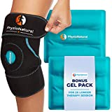 Knee Ice Pack Wrap - Hot & Cold Therapy with Adjustable Compression Support for...