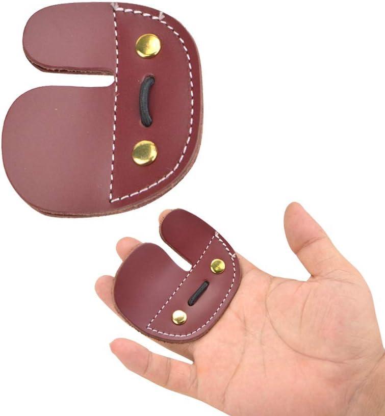 ZSHJGJR Archery Finger Max 54% OFF Guard Protect Tab 3 Under blast sales Leather