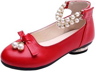 [Yudesunyds] 女の子 ダンス 靴 - 子供 メアリージェーン サンダル プリンセス プロム ドレスアップ フラット ローヒール ラインストーン カジュアル パーティー