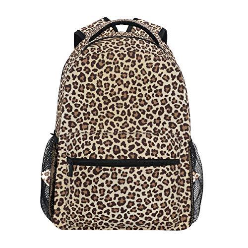 Mochila Escolar de Leopardo Animal de Gemoetric para niños niñas niños Bolsa de Viaje Bookbag