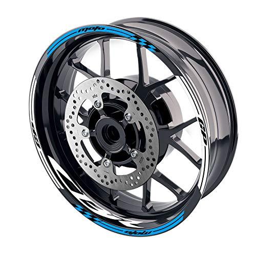 MC MOTOPARTS - Adhesivos para llanta de rueda de 17 pulgadas, GP02 para CBR1000RR CBR600RR CBR 650F 600F 17 18 19 20 (AQUA)