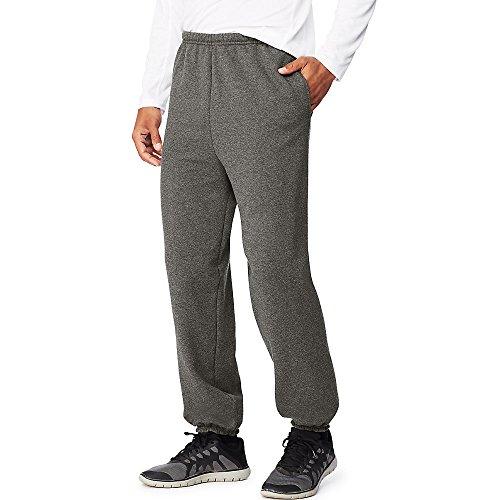 Hanes Sport Ultimate Cotton Men's Fleece Sweatpants with Pockets Charcoal Heather