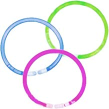 Multila 100 Glow Sticks in Mixed Colours & 100 Bracelets Connectors