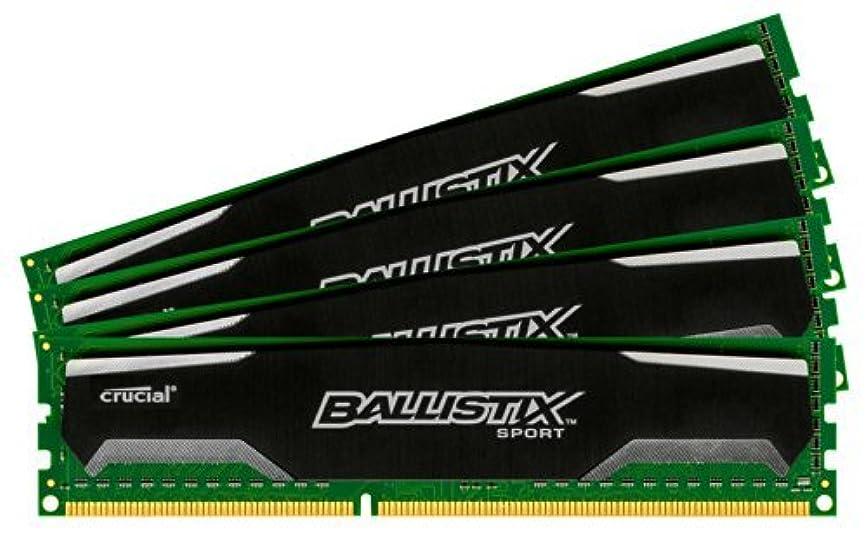 論理的に苦しめる小数Ballistix Sport 16GB Kit (4GBx4) DDR3 1600 MT/s (PC3-12800) UDIMM 240-Pin Memory - BLS4KIT4G3D1609DS1S00 [並行輸入品]