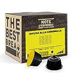 Note d'Espresso - Cápsulas de Manzanilla - Compatibles con Cafeteras de Cápsulas NesCafé y Dolce Gusto - 48 Unidades de 2.5g
