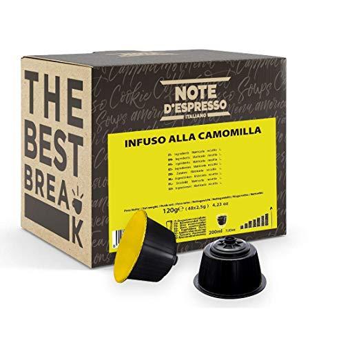 Note D'Espresso - Cápsulas de manzanilla Exclusivamente Compatibles con cafeteras de cápsulas Nescafé* y Dolce Gusto* 2,5g (caja de 48 unidades)