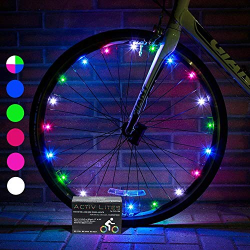 Activ Life LED Bicycle Light (1 Tire, Multicolor) Xmas Gifts for Kids Fun, Top Secret Santa Gifts 2019 X-mas, Popular Children Toys, Best for Hot Outdoor Family Child Bday Party Regalos de Navidad
