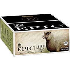 SAVORY SNACK BAR: a perfect on-the-go snack featuring 100% grass-fed lamb, currants and mint with 6 grams of protein per serving CONVENIENT: EPIC Meat Bars are the perfect mid-day or afternoon snack to keep on-hand. GRASS-FED: 100% grass-fed lamb use...