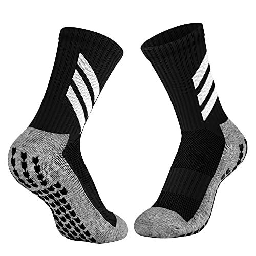 KTUEOV 2 Pares Calcetines de Fútbol Antideslizantes Calcetines Deportivos Hombre Mujer Transpirable Calcetines Deporte de Mayor Agarre Cómodo Calcetines de Entrenamiento para Fútbol Baloncesto Correr
