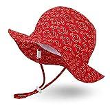 Ami & Li tots Unisex Niño Ajustable de ala Ancha Sombrero Protección Solar UPF 50 Sombrero de Sol para niña niño Infantil para niños pequeños - S: Granada