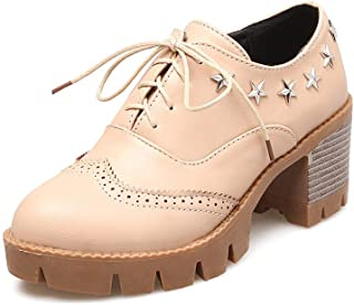 BalaMasa Womens APL11802 Pu Oxfords