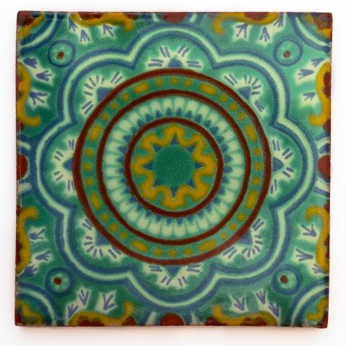 Mexikanische Keramikfliesen, 5cm, handgefertigt und ethisch gehandelt von Tumia LAC