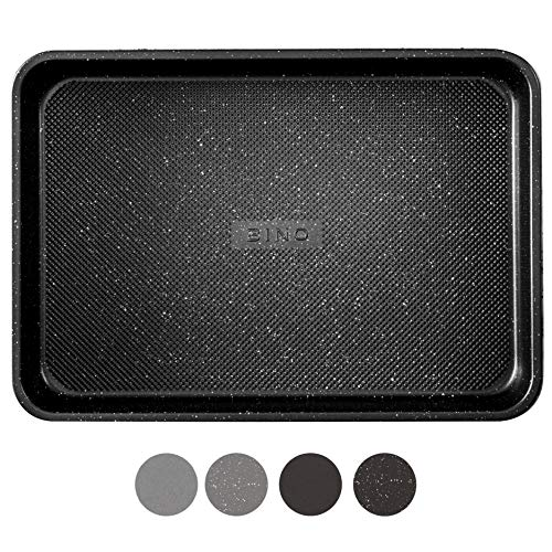 BINO Bakeware Nonstick Baking Pan, 9 x 13 Inch - Speckled Black | Premium Quality Textured Cake Pan with Even-Flow Technology | Dishwasher Safe | Non-Toxic
