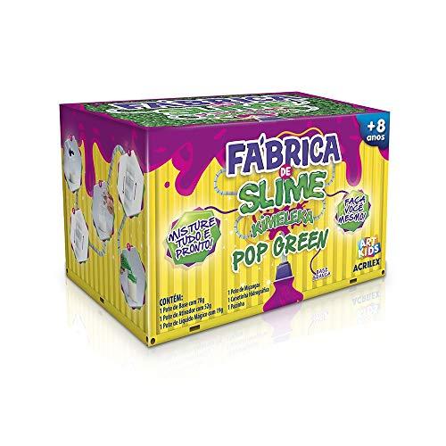 Kit Para Fazer Slime Da Acrilex Kimeleca Pop Green, Acrilex