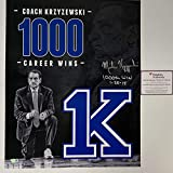 Autographed/Signed Mike Krzyzewski Coach K Inscribed 1000th Win Duke Blue Devils 16x20 College Basketball Photo Fanatics COA