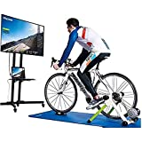 YourBooy Smart Bike Trainer Stand, Fluid Resistance Exercise Trainer Quiet Noise Reduction Stationary Bike Stand, Bluetooth and ANT+ Capable, Ready for Zwift,Green