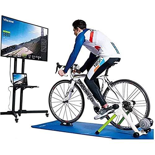 WUBAILI Soporte Inteligente para Entrenador De Bicicletas, Entrenador De Ejercicios De Resistencia A Fluidos, Reducción De Ruido Silencioso, Compatible con Bluetooth Y Ant +, Listo para Zwift,Blanco