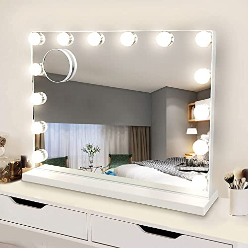 new arrival Depuley Makeup Vanity Mirror Light, Professional Plug in Light-up Mirror, Hollywood Lighted Vanity Mirror, 3 Color Dimmable Modes with Removable Magnification 2021 for Table Beauty Mirror 20 x 16 lowest In, White online sale