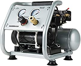 Metabo HPT Air Compressor, Ultra-Quiet 59 dB, Portable, Oil-Free Pump, 1-Gallon Tank Capacity, Steel Roll Cage w/ Rubber Grip, Compact and Lightweight, 1-Year Warranty, (EC28M)