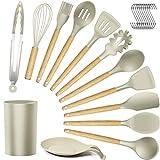 Silicone Kitchen Utensils Cooking Utensil Set - Cooking Utensils...
