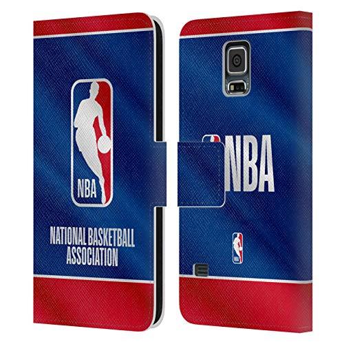 Head Case Designs Ufficiale NBA Banner 2019/20 Logoman Cover in Pelle a Portafoglio Compatibile con Samsung Galaxy S5 / S5 Neo