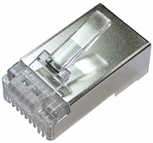 Aerzetix: 10x RJ50-Steckverbinder 10-polig IDC 10p10c Kabel abgeschirmt