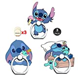ZOEAST(TM) 3 Pack Cute Phone Ring Grip Lilo Jumba Nani Universal 360° Adjustable Holder Car Desk Hook Stand Stent Mount Kickstand Compatible with iPhone Samsung iPad Tablet (3pcs Scrump Stitch)