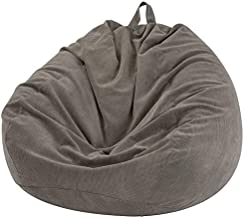Nobildonna Bean Bag Chair Cover (No Filler) for Kids and Adults. Extra Large 300L Beanbag Stuffed Animal Storage Soft Premium Corduroy