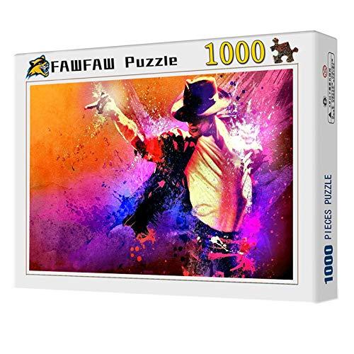FAWFAW Puzzles 1000 Piezas, Cartel De Michael Jackson