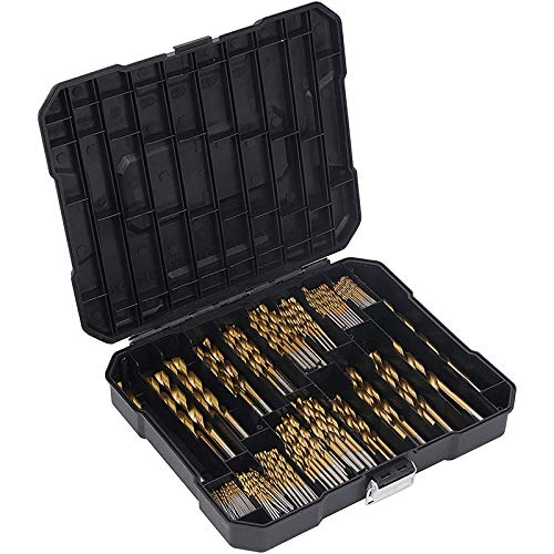Gesh 230 Pieces Drill Bits, High Speed Steel Drill Accessory, Power Tool for Wood