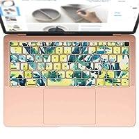 igsticker MacBook Air 13inch 2018 専用 キーボード用スキンシール キートップ ステッカー A1932 Apple マックブック エア ノートパソコン アクセサリー 保護 014029 花 フラワー 黄色