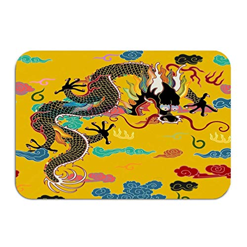 Outside Shoe Non-Slip Color Dot Doormat traditionally Chinese Ornament Dragon Clouds Highest Ranking