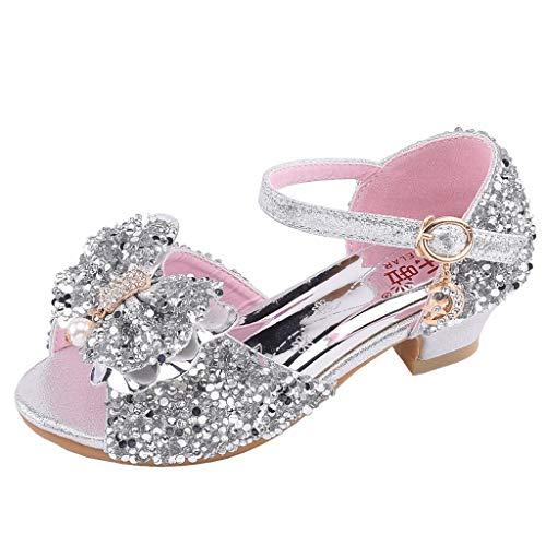 Zylione 760-1 Kinder Mädchen beugen Perlen Pailletten Tanzschuhe Prinzessin Schuhe Freizeitschuhe Sandalen
