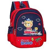 ZIZAIXING Mochila Infantil Lindo oso kindergarten niños y niñas mochila preescolar mochila escolar con animales (Rojo 1)