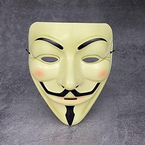 Máscara Assustadora de Halloween, Filme cosplay v for vendetta hacker máscara anônimo cara fawkes festa de natal halloween (Metal Color : B)
