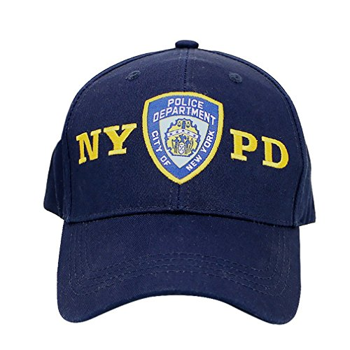 Official NYPD Hat/Baseball Cap, Navy Blue Police Department NYPD with Adjustable Velcro Strap