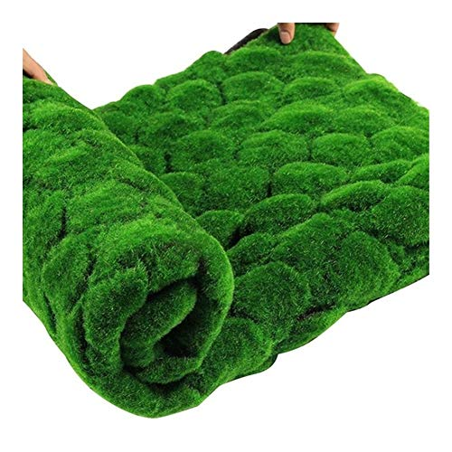 YFJLOVE 1 Pcs Christmas Artificial Moss Straw Mat Green Decorative Lawn Carpet Home Garden Moss Floor DIY Wedding Decoration Grass (Color : Grayish yellow)