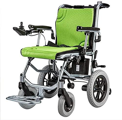Silla de ruedas eléctrica inteligente de la batería de litio ligera plegable de la aleación de aluminio ancianos discapacitados asistió silla de ruedas
