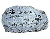 Trinity Church Supply Cement Good Night My Friend Until We Meet Again Memorial Wall Plaque Stepping Stone Keepsake, Grey, 12 Inch