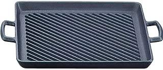 岩鋳(Iwachu) 両手鍋 黒 内寸27.5×23.5cm 南部鉄器 オイルプレートグリル 23014
