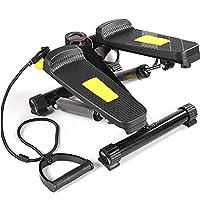 パワーロープ付きミニステッパー、ステップフィットネス機器、調整可能な階段ステップ、LCDディスプレイ、フィットネストレーニング機器、屋内トレーニング