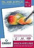 Canson 200005785 - Öl- und Acrylpapier A4, 290 g/m², 10 Blatt, weiß