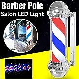 Led Impermeable al Aire Libre Barbería Poste Giratorio e Iluminado para peluquería Señal de peluquería Poste de...