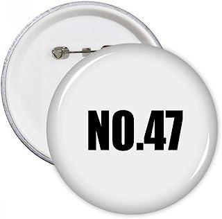 Lucky N ° 47Nombre Nom badge broches rondes Bouton Vêtements Décoration 5pcs Cadeau XXL multicolore