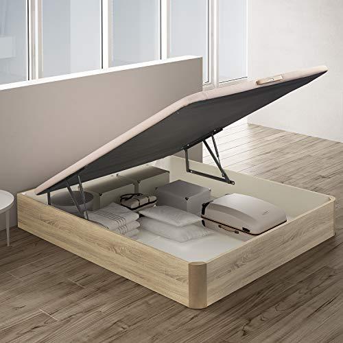 PIKOLIN, canapé abatible de almacenaje Color Natural 150x190, Servicio de Entrega Premium Incluido