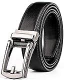 (ジャスグッド)JASGOOD ベルト メンズ 革 レザー ビジネス 通勤 紳士 ベルト オートロック式 サイズ調整可能JA3067(ブラック)