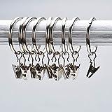 Musuntas 30 Stk. 35mm Durchmesser Mehrzweck Vorhang Clip Gardinenstange Gardinenringe Vorhangringe mit Clips