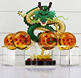 MWC Figura Dragon Shenron PVC Dragon Ball Z + 7 Bolas de Dragon 3,5 cm diametro + Estante Expositor DBZ Figuras acción Juguetes Goku Dragon Ball Super Espectacular Akira
